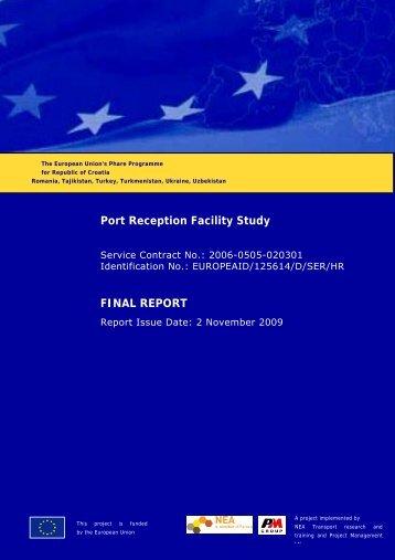 Port Reception Facilities Study Croatia