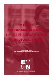 manual on the management of the european union structural funds