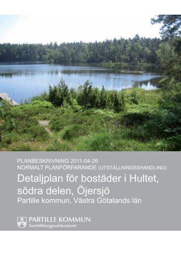 Detaljplan för bostäder i Hultet, södra delen, Öjersjö - Partille kommun