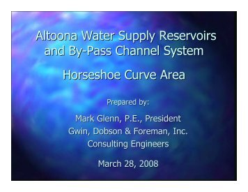 Horseshoe Curve (PA) Reservoir System Hydraulic Overview