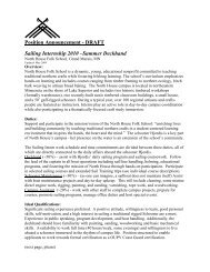 Position Announcement - DRAFT Sailing Internship 2010 –Summer ...
