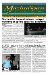 GLIFWC hosts northern Anishinaabe relatives - The Great Lakes ...