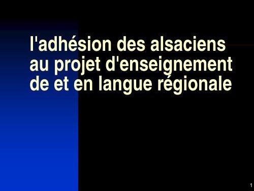Un diaporama sur la présentation de la langue régionale.