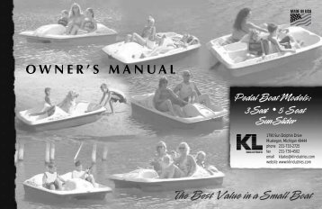 Owner's Manual - Pedalboat.com
