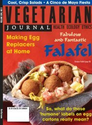 Issue 2 2007 Cover.qxd - The Vegetarian Resource Group