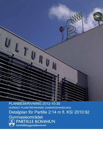 Planbeskrivning - Partille kommun