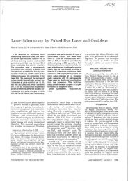 Laser Sclerostomy by Pulsed-Dye Laser and Goniolens