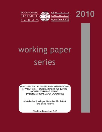 evidence from mena countries - Economic Research Forum