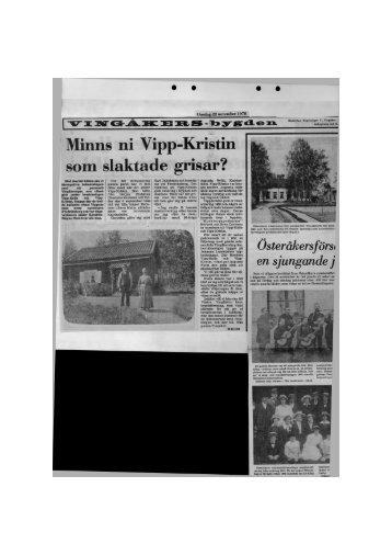 Minns ni Vipp-Kristin som slaktade grisar?