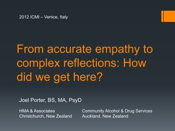 From accurate empathy to complex reflections: How did we get here?
