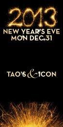 new yeaR's eve mon dec 31 Tao's icon