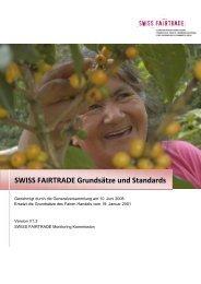 SWISS FAIRTRADE Grundsätze und Standards