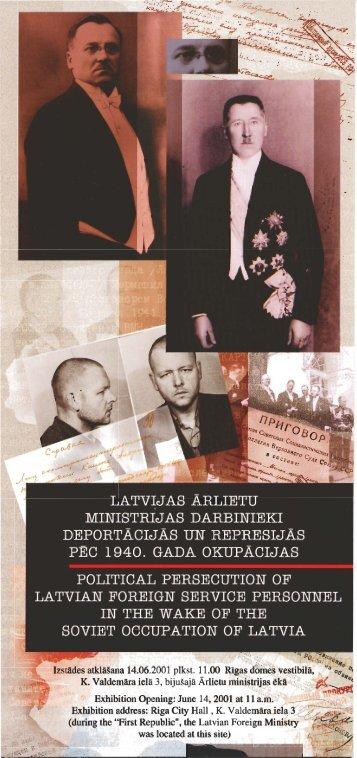 Latvijas ārlietu ministrijas darbinieki Deportācijas un represijas pēc