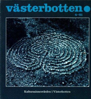 Västerbotten • - Västerbottens museum