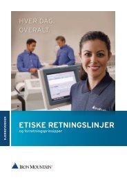 ETISKE RETNINGSLINJER - Iron Mountain