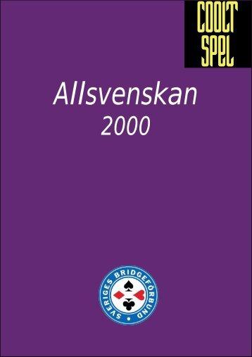 Regler för Allsvenskan 2000 - till SBF