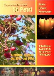 Gemeindebrief 2013 Oktober-Januar 2014 Stand - Pfarrverband Sickte