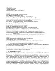 Apr 25 - Outreach & International Affairs - Virginia Tech