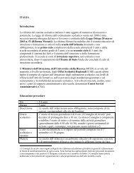 ITALIA Introduzione La riforma del sistema scolastico ... - eTwinning