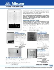 4-Wire Suite Stations Data Sheet - Mircom