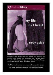 My Life as I Live It - PDF  - Ballad Films