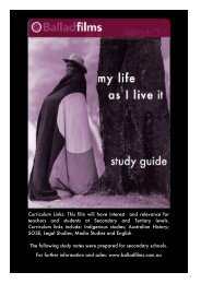 My Life as I Live It - PDF  - Ballad Films