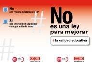 reforma educativa del PP - FETE-UGT