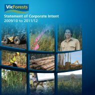 Statement of Corporate Intent 2009/10 to 2011/12 - VicForests