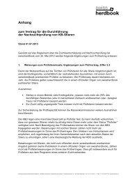 Anhang Vertrag Nachzuchtprüfung KB-Stiere - Swissherdbook