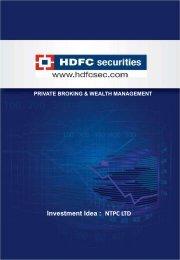 NTPC LTD - HDFC Securities