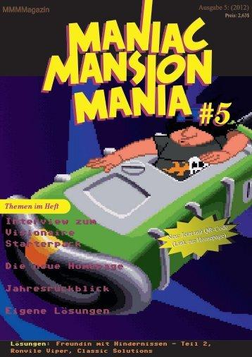 5 Themen im Heft - Maniac Mansion Mania