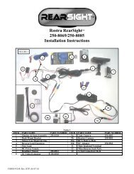 Rostra RearSightTM 250-8069/250-8085 Installation Instructions