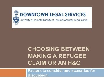 Choosing between making a refugee claim or ... - Your Legal Rights