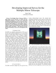 Developing Improved Servos for the Multiple Mirror Telescope