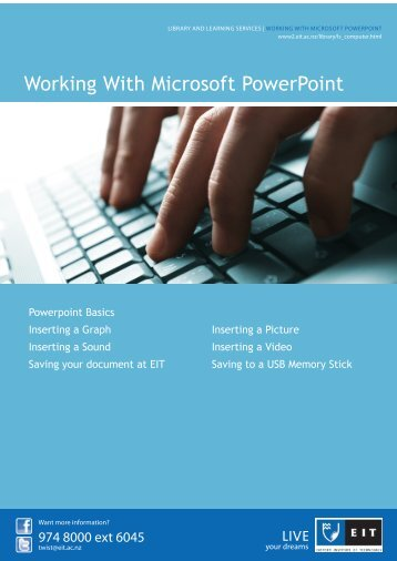 Working with Microsoft Powerpoint - Full Version (pdf) - EIT