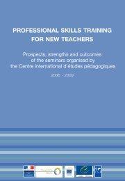 Professional skills training for new teachers - Prospects ... - CIEP