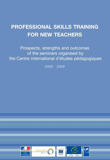 Professional skills training for new teachers - Prospects ... - CIEP
