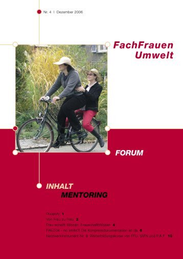 Forum 4 / 2006 - FachFrauen Umwelt