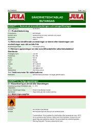 Säkerhetsdatablad (MSDS) (378.5 KB - pdf) - Jula