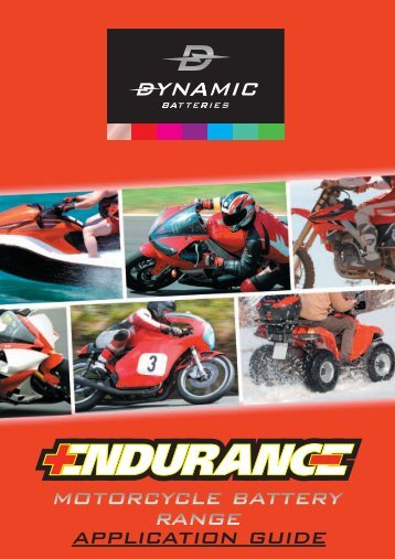 Application Guide Range Motorcycle Battery