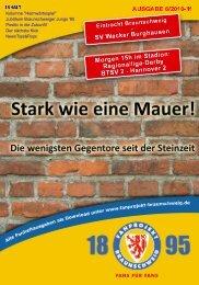 Heft 06: Wacker Burghausen - FanPresse Braunschweig