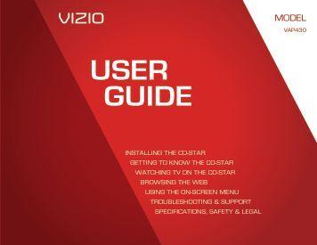 VAP430 User's Guide - Vizio