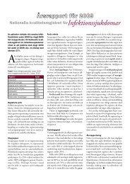 Årsrapport 2009, en sammanfattning - Infektion.net