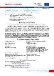 Zadávací dokumentace - Regionální rada regionu soudržnosti ...
