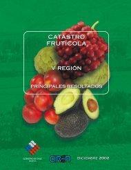 Catastro Fruticola Nacional - Biblioteca digital de CIREN