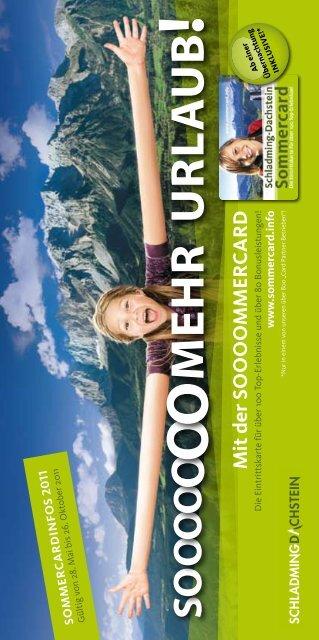 M it der Sooo o MM er card - Urlaubsregion Schladming-Dachstein