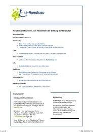 MyHandicap Newsletter 06-2009ch