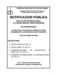 NOTIFICACION PÚBLICA - Instituto Nacional de Cancerología