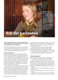 Till för patienten - Välkommen till Reumatikertidningens arkiv