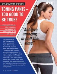 toning pants – too good to be true? - American Council on Exercise